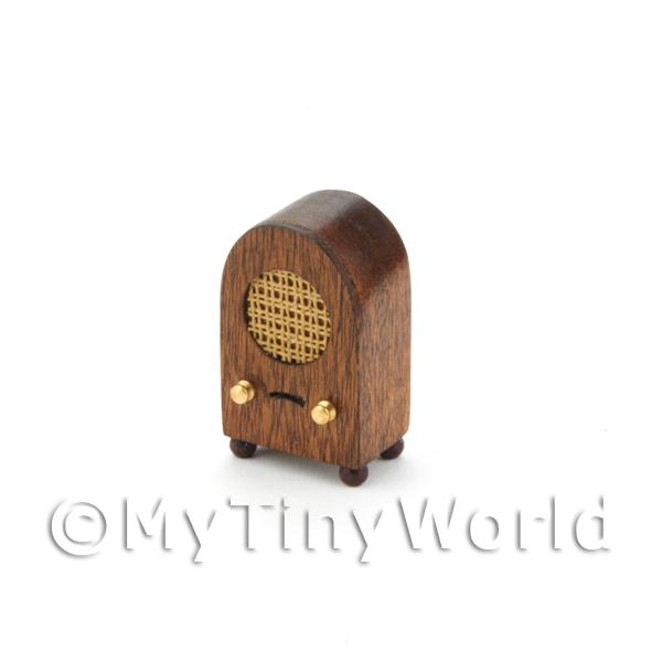 Dolls House Miniature Handmade Old Style Radio From The 1930s