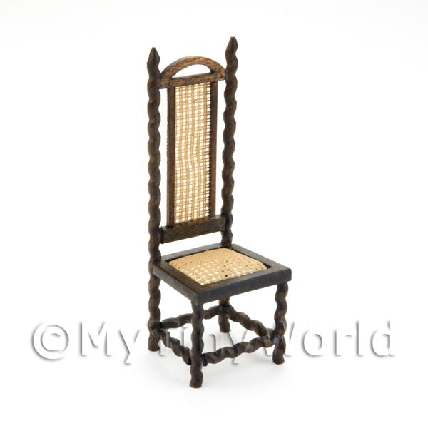 Handmade Dolls House Miniature Charles II Hall Chair