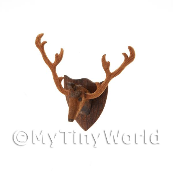 Dolls House Miniature Handmade Wall Mountable Stags Head