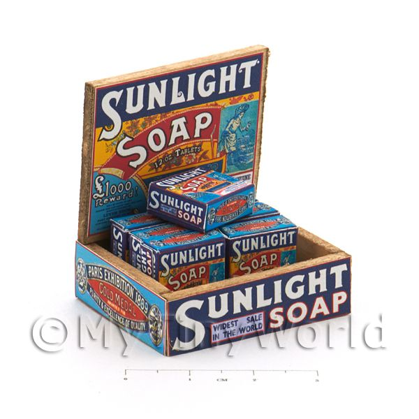 Dolls House Miniature  | Dolls House Filled Sunlight 12oz Soap Shop Counter Display Box
