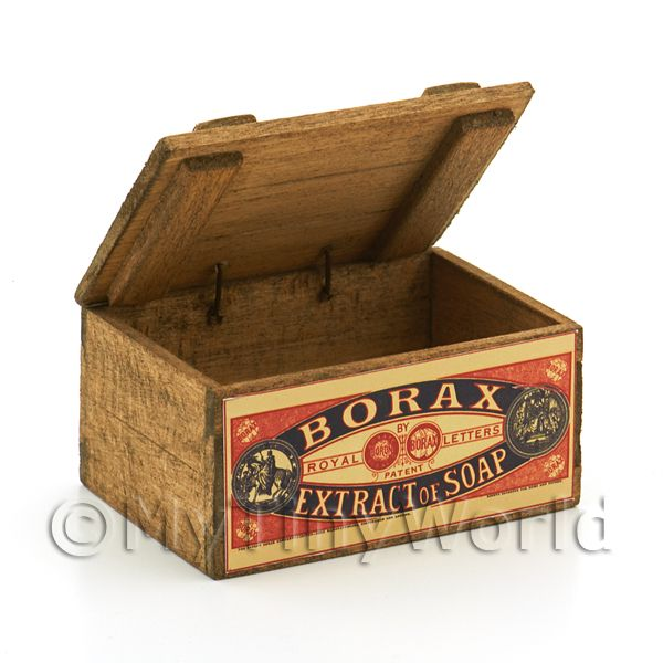 Dolls House Miniature  | Dolls House Borax Extract of Soap Wooden Shop Display Box