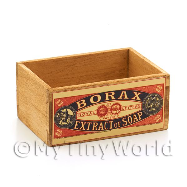 Dolls House Borax Extract of Soap Branded Open Crate