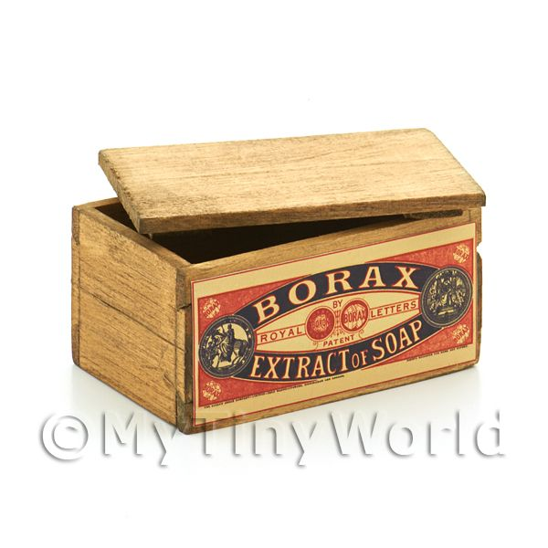 Dolls House Borax Extract of Soap Branded Crate with Lid
