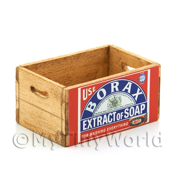 Dolls House Borax Soap Extract Branded Wooden Crate