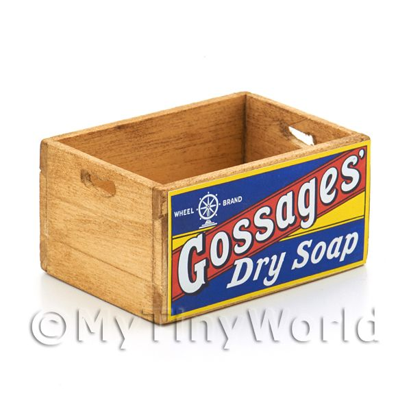Dolls House Gossages Dry Soap Branded Wooden Crate