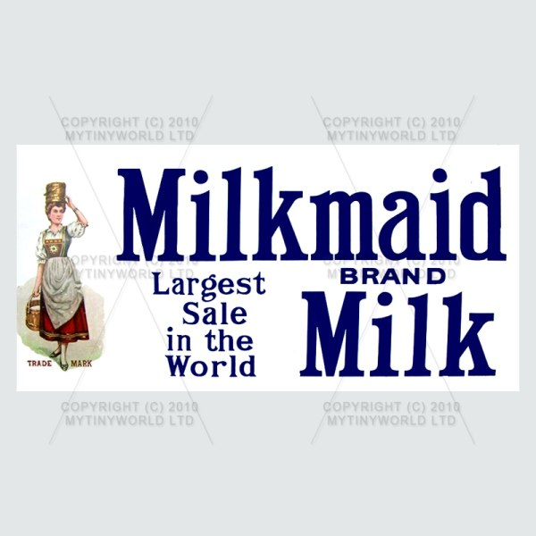 Dolls House Miniature  | Dolls House Miniature Milkmaid Milk Shop Sign Circa 1910