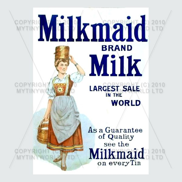 Dolls House Miniature Milk Maid Milk Shop Sign Circa 1900