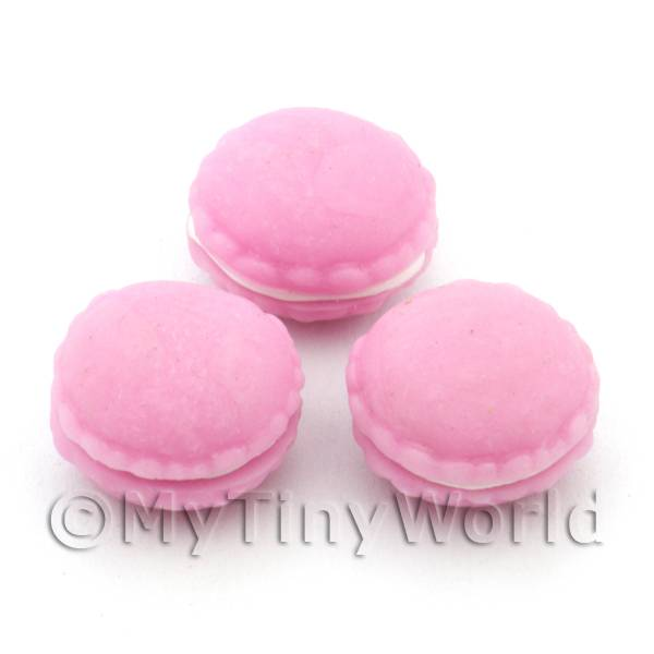 Handmade Dark Pink Macaroon For Jewellery And Charms