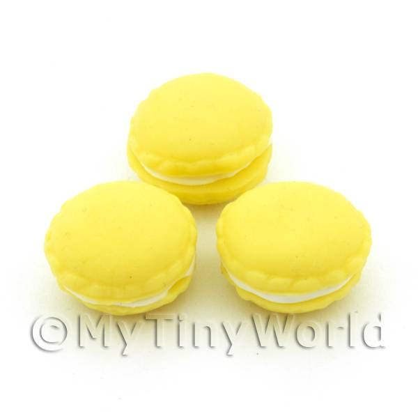 Handmade Lemon Macaroon For Jewellery And Charms