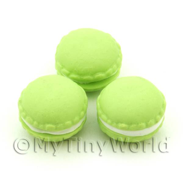 Dolls House Miniature  | Handmade Lime Macaroon For Jewellery And Charms