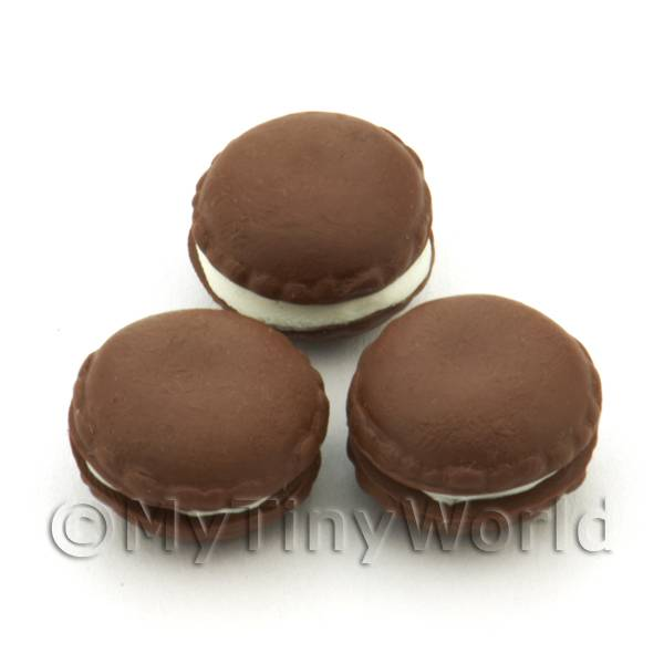 Handmade Dark Chocolate Macaroon For Jewellery And Charms