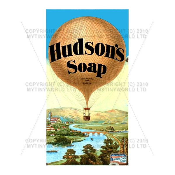 Dolls House Miniature Hudsons Soap Shop Sign Circa 1890