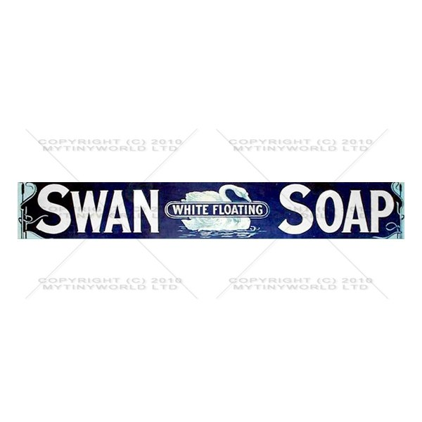 Dolls House Miniature Swan Soap Soap Shop Sign Circa 1900
