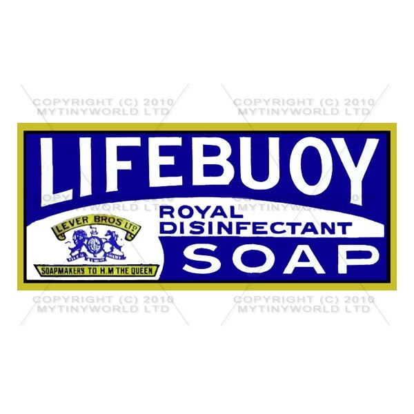 Dolls House Miniature Lifebuoy Soap Shop Sign Circa 1890