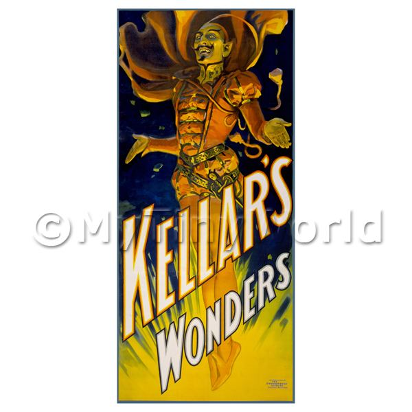 Dolls House Miniature Kellar Magic Poster - Kellars Wonders