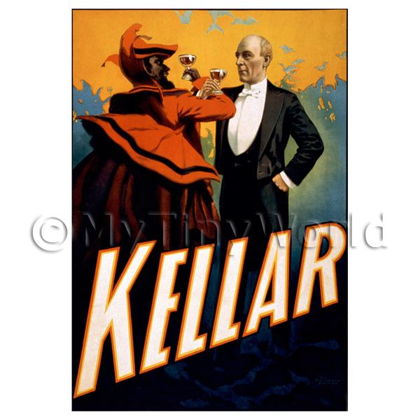 Dolls House Miniature  | Dolls House Miniature Kellar Magic Poster - Short Toasting Devil