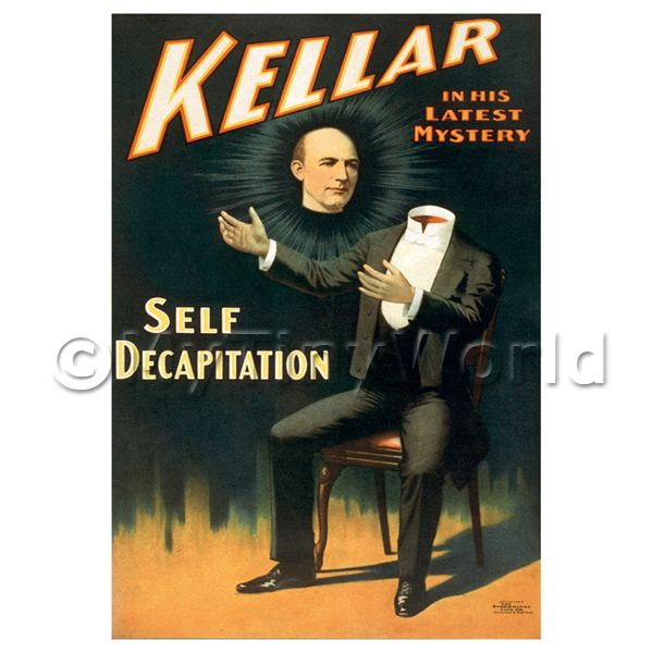 Dolls House Miniature Kellar Magic Poster - Short Latest Mystery 2