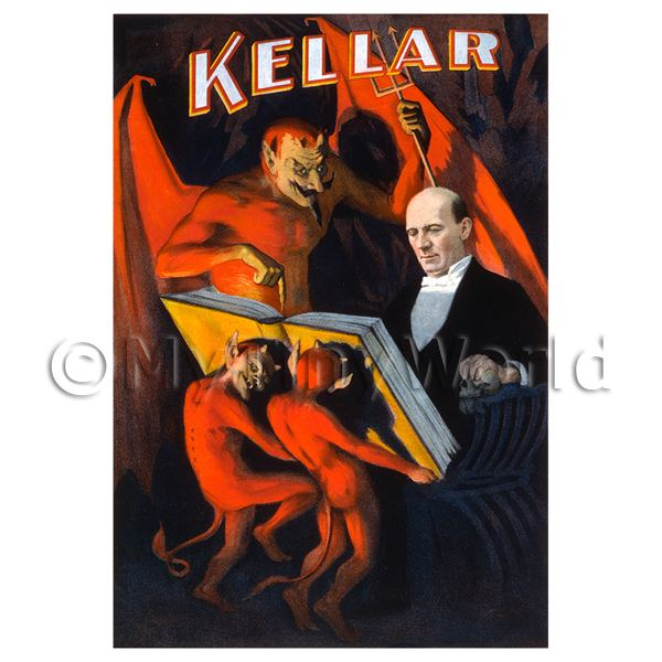 Dolls House Miniature Kellar Magic Poster - Devils Book