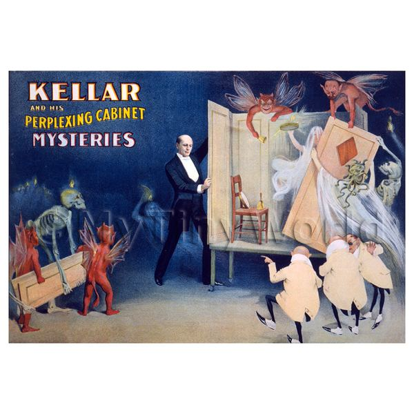 Dolls House Miniature Kellar Magic Poster - Perplexing Cabinet