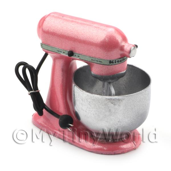 Pink Dolls House Miniature Old Style Batter / Dough Mixer