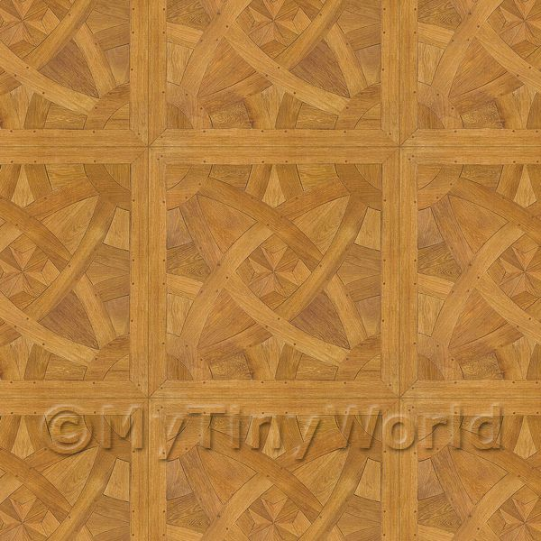 Dolls House Miniature  | Dolls House La Rochelle Large Panel Parquet Wood Effect Flooring
