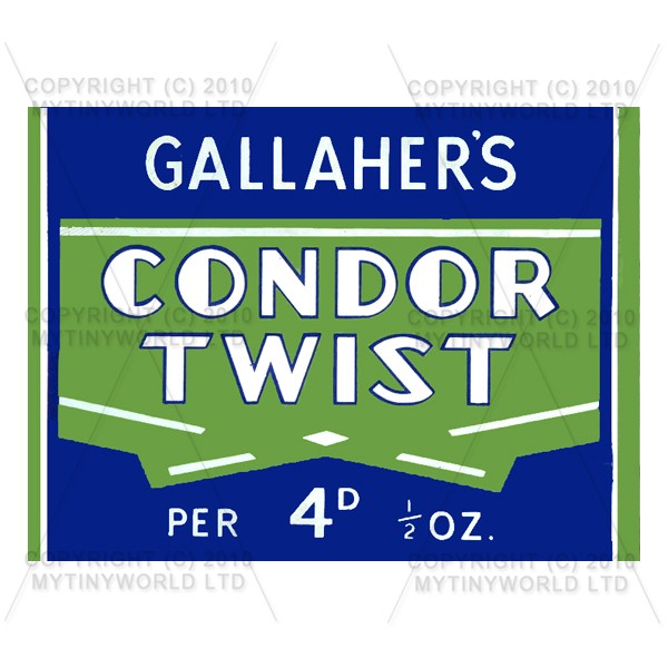 Dolls House Miniature Condor Twist Cigarette Shop Sign Circa 1930