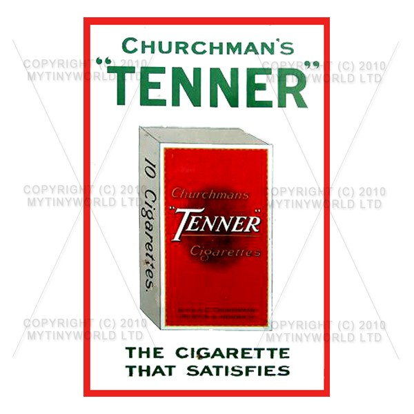 Dolls House Miniature Churchmans Tenner Cigarette Shop Sign Circa 1930