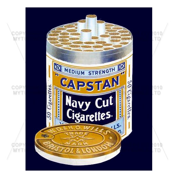 Dolls House Miniature Capstan Navy Cut Cigarette Shop Sign Circa 1910