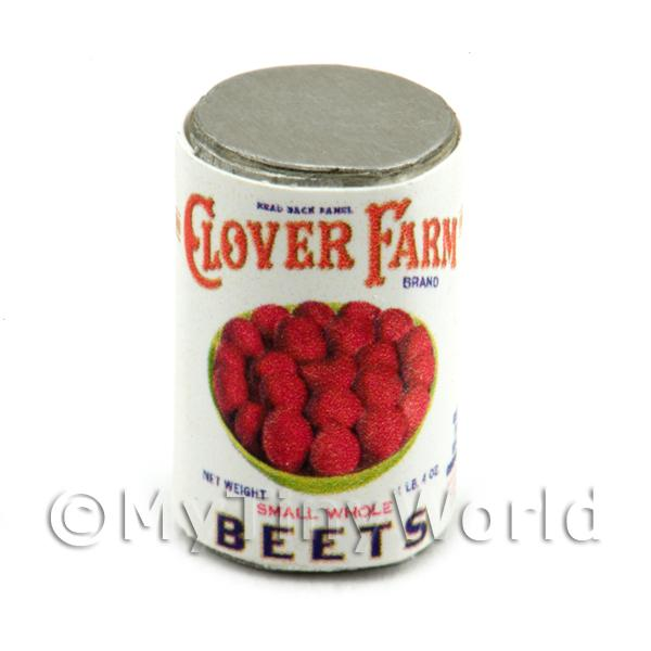 Dolls House Miniature  | Dolls House Miniature Clover Farm Small Whole Beets Can (1920s)
