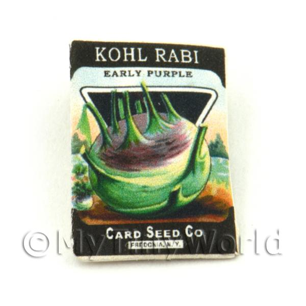 Dolls House Miniature  | Dolls House Miniature Garden Kohl Rabi Seed Packet