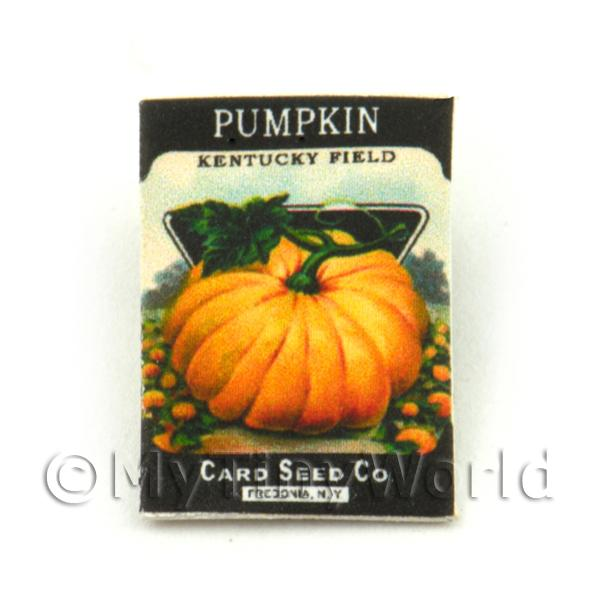 Dolls House Miniature  | Dolls House Miniature Garden Kentucky Pumpkin Seed Packet