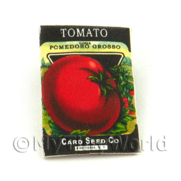 Dolls House Miniature Garden Grosso Tomato Seed Packet