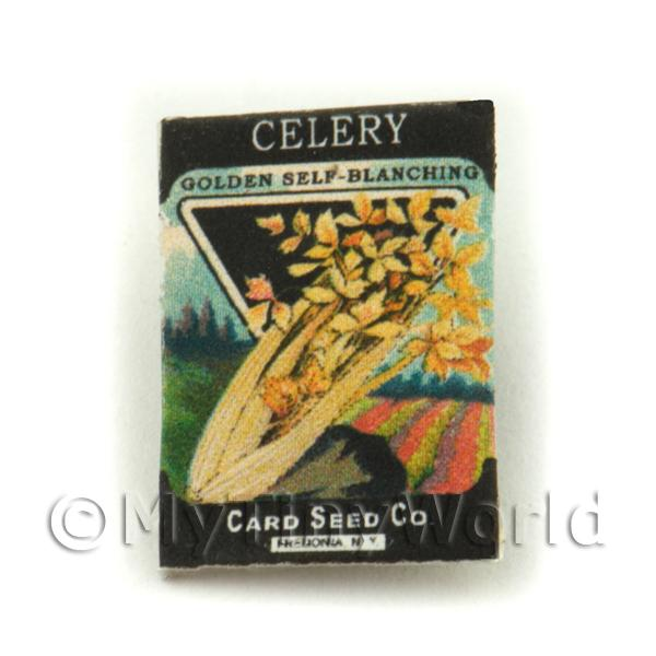 Dolls House Miniature  | Dolls House Miniature Garden Golden Celery Seed Packet
