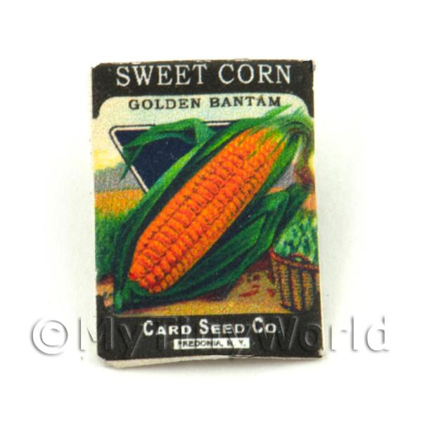 Dolls House Miniature  | Dolls House Miniature Garden Golden Sweet Corn Seed Packet