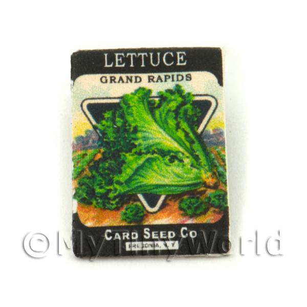Dolls House Miniature Garden Grand Rapids Lettuce Seed Packet