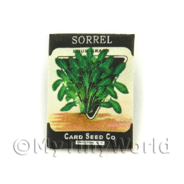 Dolls House Miniature Garden Sorrel Seed Packet