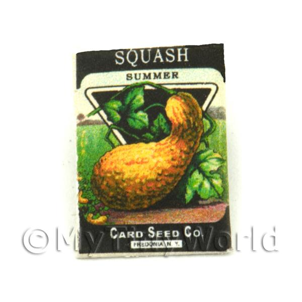Dolls House Miniature Garden Summer Squash Seed Packet