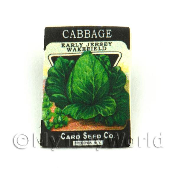 Dolls House Miniature  | Dolls House Miniature Garden Wakefield Cabbage Seed Packet