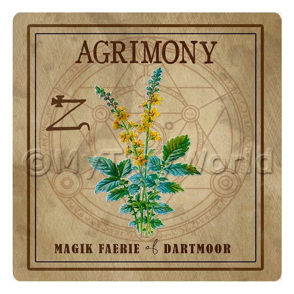 Dolls House Herbalist/Apothecary Square Agrimony Herb Label