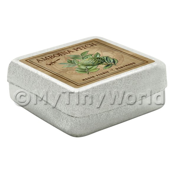 Dolls House Herbalist/Apothecary Amboina Pitch Square Herb Box