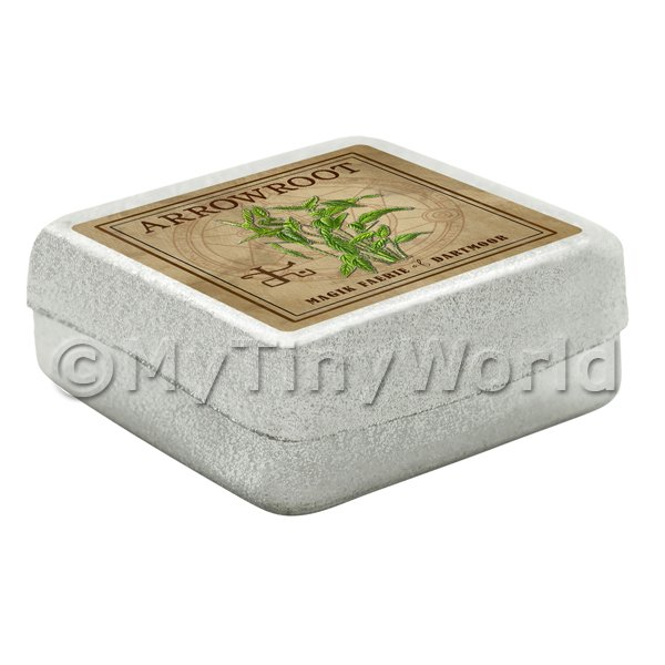 Dolls House Herbalist/Apothecary  Arrowroot Square Herb Box