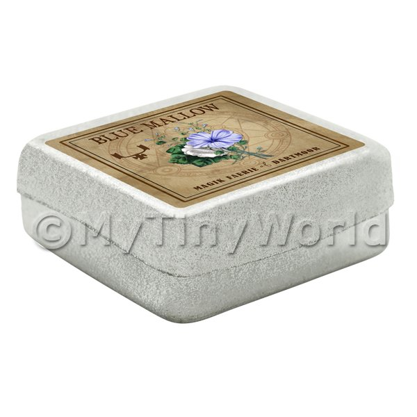 Dolls House Herbalist/Apothecary Blue Mallow Square Herb Box