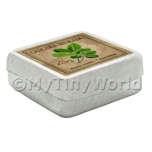 Dolls House Herbalist/Apothecary Cascara Segrada Square Herb Box
