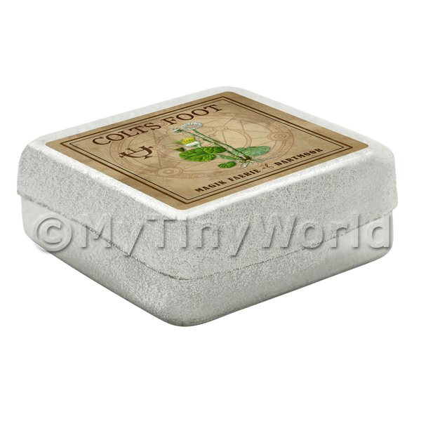 Dolls House Herbalist/Apothecary Colts Foot Square Herb Box