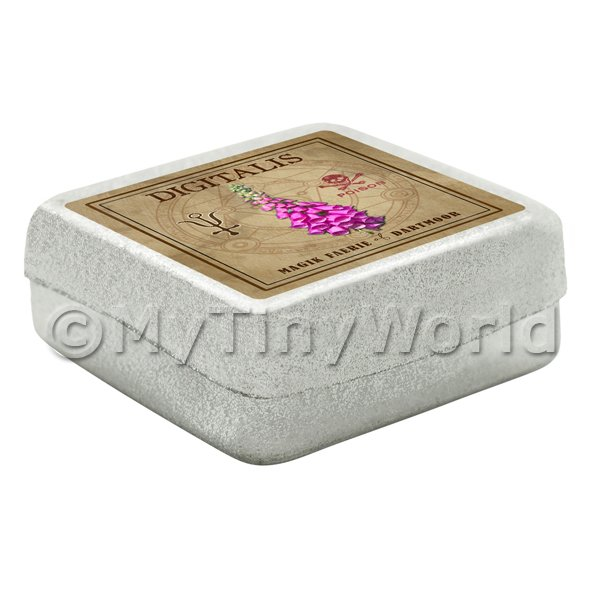 Dolls House Herbalist/Apothecary Fox Glove Square Herb Box