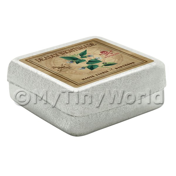 Dolls House Miniature  | Dolls House Herbalist/Apothecary Nightshade Square Herb Box