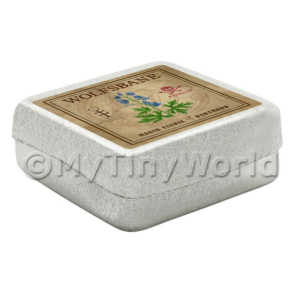 Dolls House Miniature  | Dolls House Herbalist/Apothecary Wolfsbane Square Herb Box