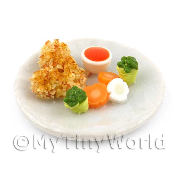 Dolls House Miniature  | Dolls House Miniature Handmade Chicken Drumstick Starter