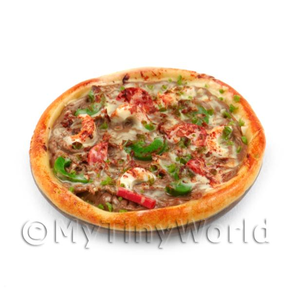 Dolls House Miniature  | Dolls House Miniature Handmade Whole Vegetarian Pizza