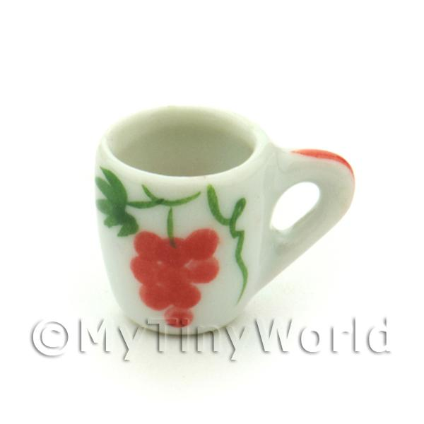 Dolls House Miniature Grape Design Ceramic Soup Mug
